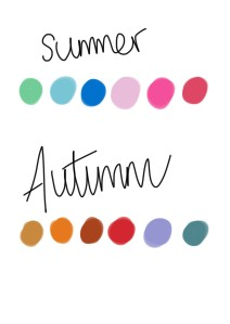 Seasons colour swatch