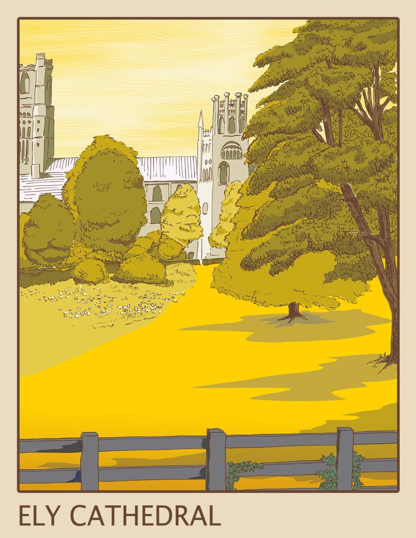 Ely Cathedral poster artwork
