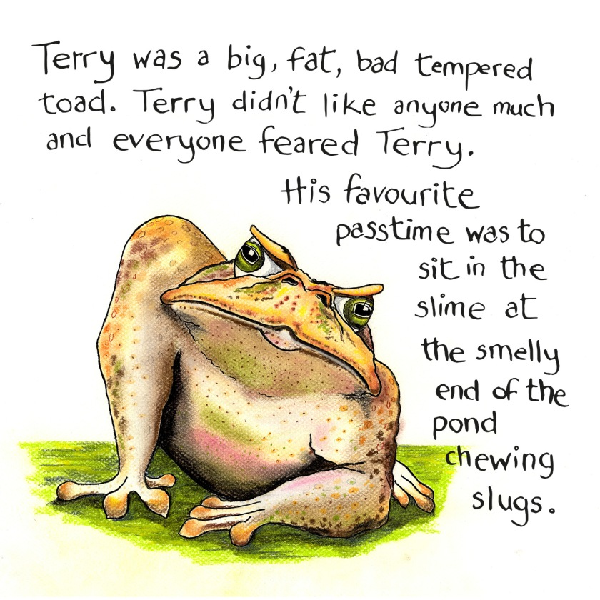 Terry the Toad artwork
