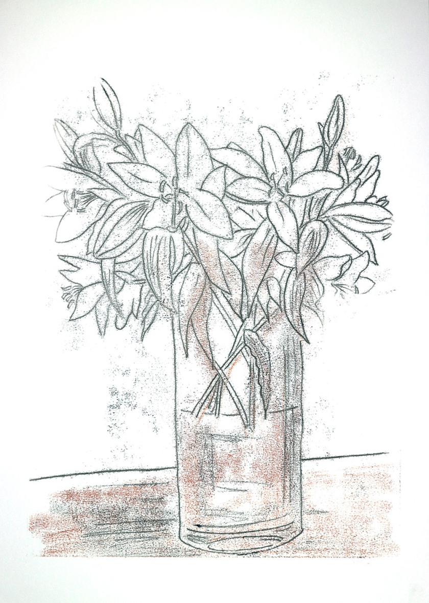 Flowers backdrawing