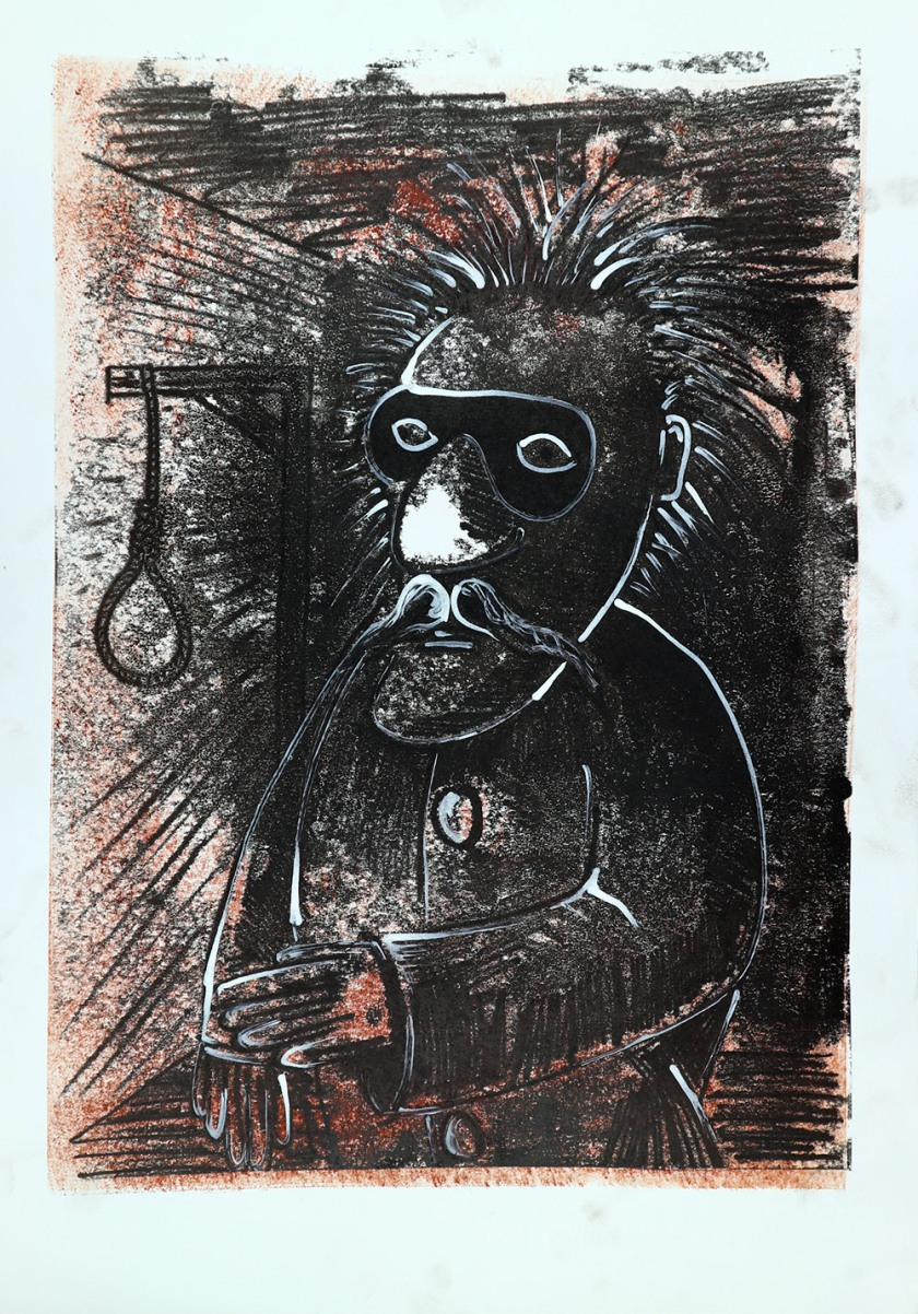 Puppet character print 03