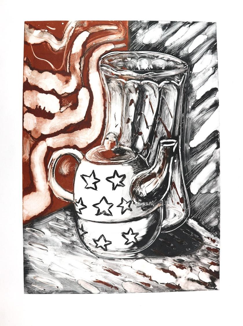 Teapots & mask 01