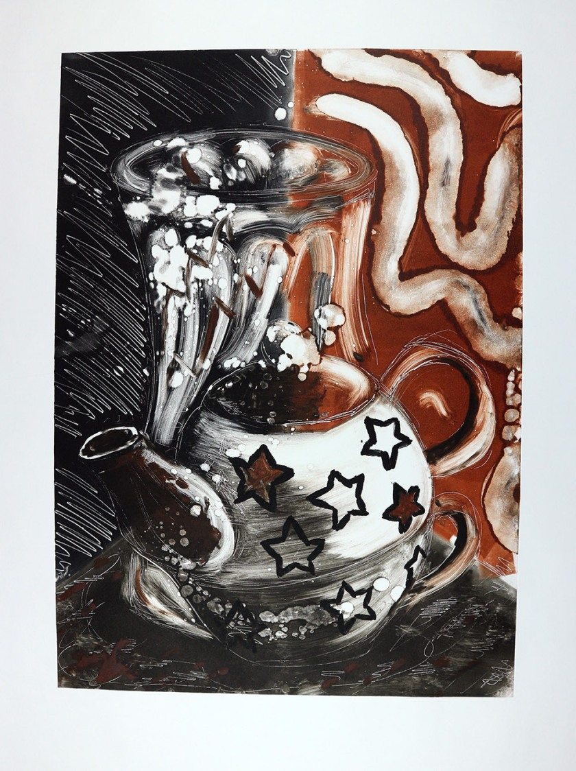 Teapots & mask 03