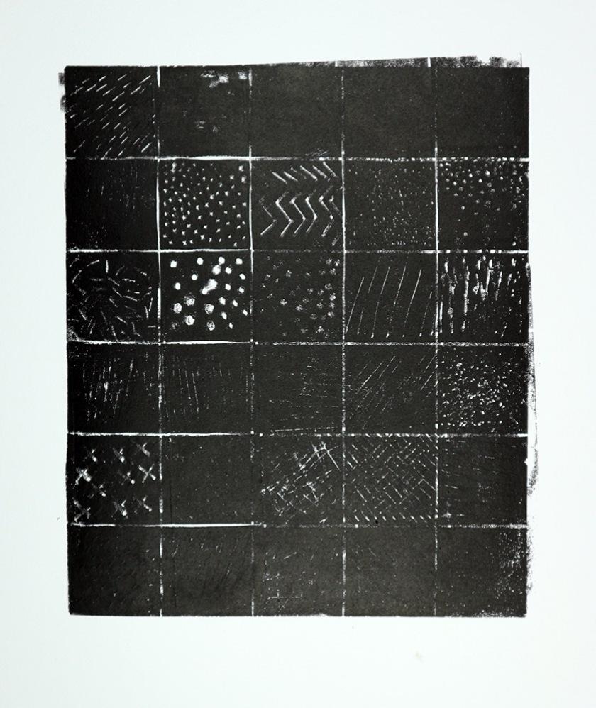Experimental lino print 01