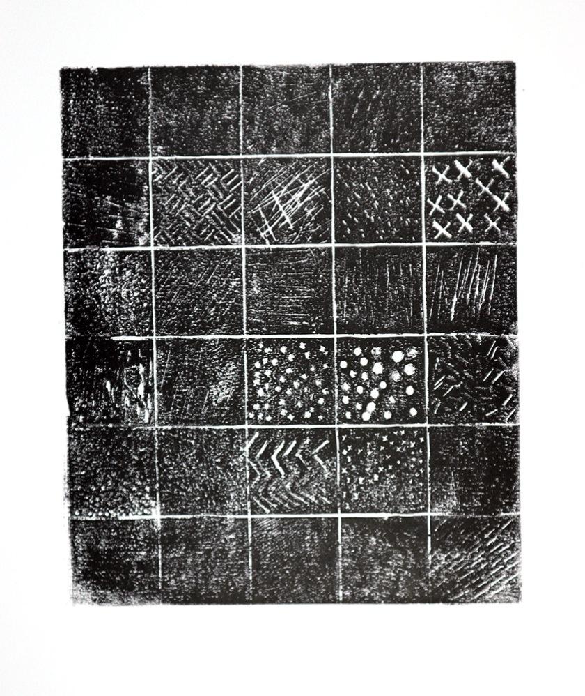 Experimental lino print 02