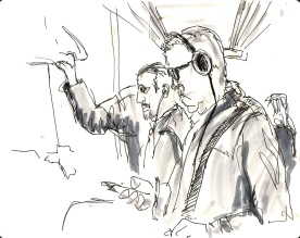 Morning commuters - A5 sketchbook