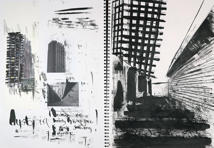 Dystopia sketchbook drawing 02