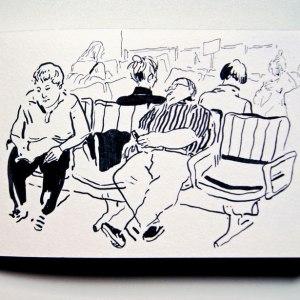 Lauren Tamaki - figure on bench