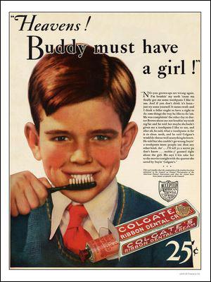 Colgate toothpaste advert 1932