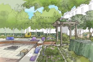 Kitchen garden sketch - Jonathan Leavens