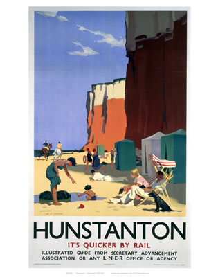 Hunstanton railway poster 01