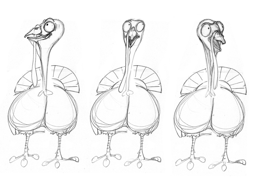 Turkey front sequence sketches