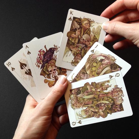 Wylie Beckert pack of card designs